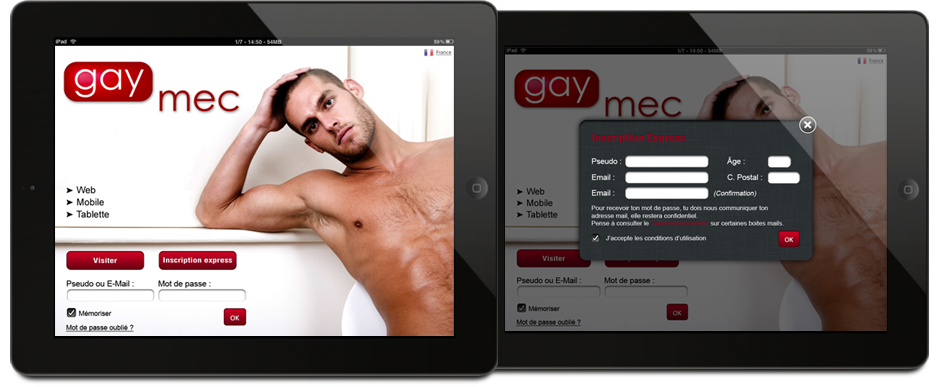 Service Mobile gay et lesbien  Smartphone et iPhone